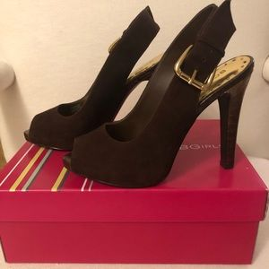 BCBG Brown Suede/Rich Snake shoes